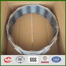 Cross razor wire, CBT 60, CBT65 stainless steel razor barbed wire