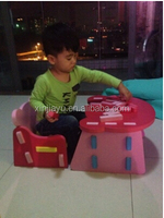 Newest high quality kids chair and table set for reading book, cheap child folding desk and chair for kids' writting
