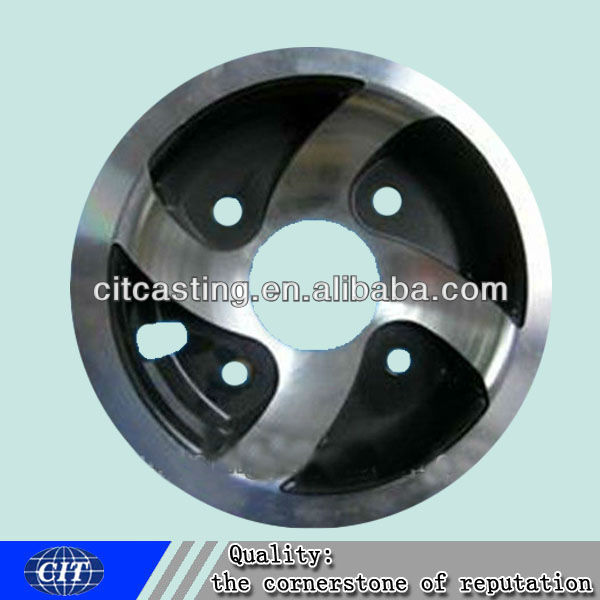 Flywheel Cast Iron for Oil Engine Clay Sand Casting Line