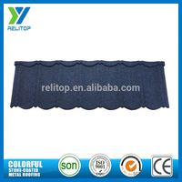 Al-Zinc Sand Chip Coated Blue Roof Tiles For Townhouse