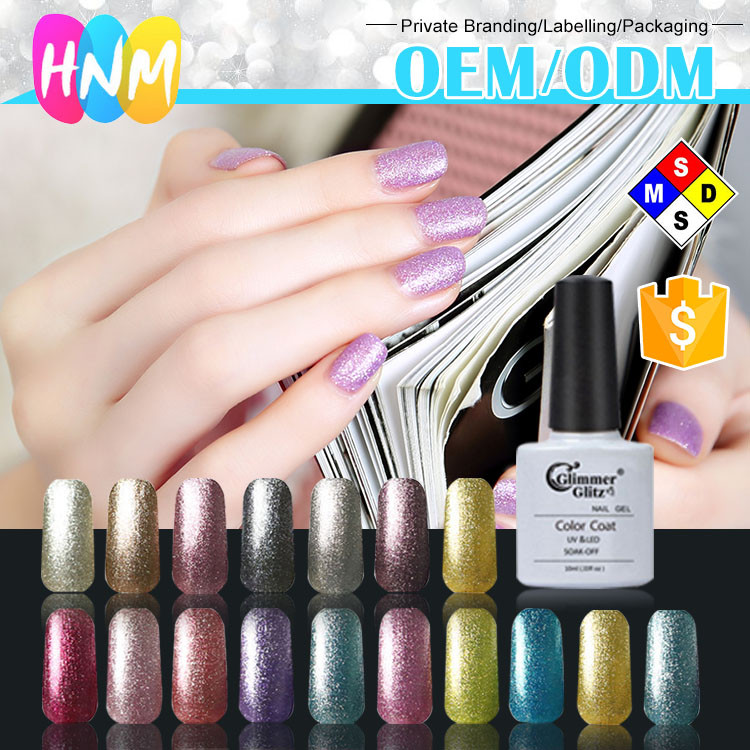 Wholesale nail supplies diamond cover platinum uv hard color uv nail gel