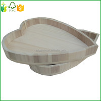 Decorative Heart Shape Wooden Serving Tray Dry Fruit Wooden Tray