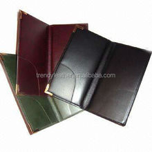 Quality restaurant leather bill folder