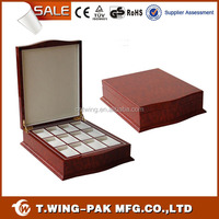 Timepieces empty branded designer watch box wood