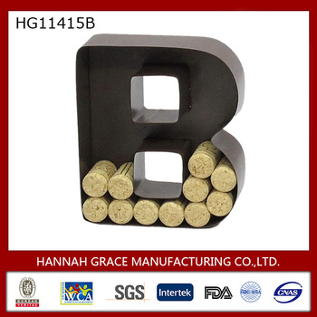 Cork Holder Metal Letters For Decoration