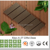 outdoor solid deck floor covering wood plastic patio plank