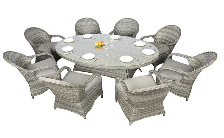 Modern outdoor garden wicker furniture dining table set