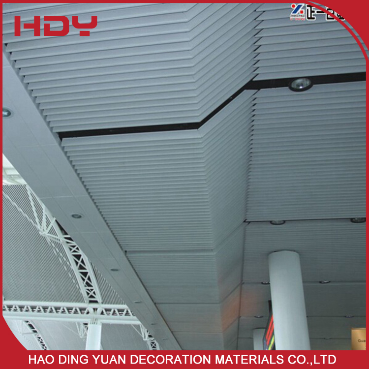 Fashionable Aluminum Slat Box Curtain Ceiling Commercial Suspended Designs