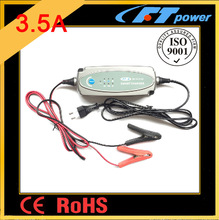 3.5A smart battery charger 12V,desulphation/soft start/bulk/absorption/analyse/recond/float/pulse battery charger automatic