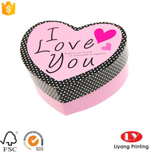 Decorated heart shape wedding invitation gift box with lids