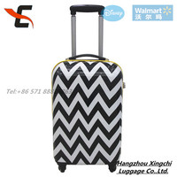 Black and White print PC trolley luggage