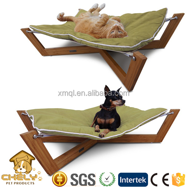 Fancy New design dog hammock bed, pet hammock, cat bed with colorful mat