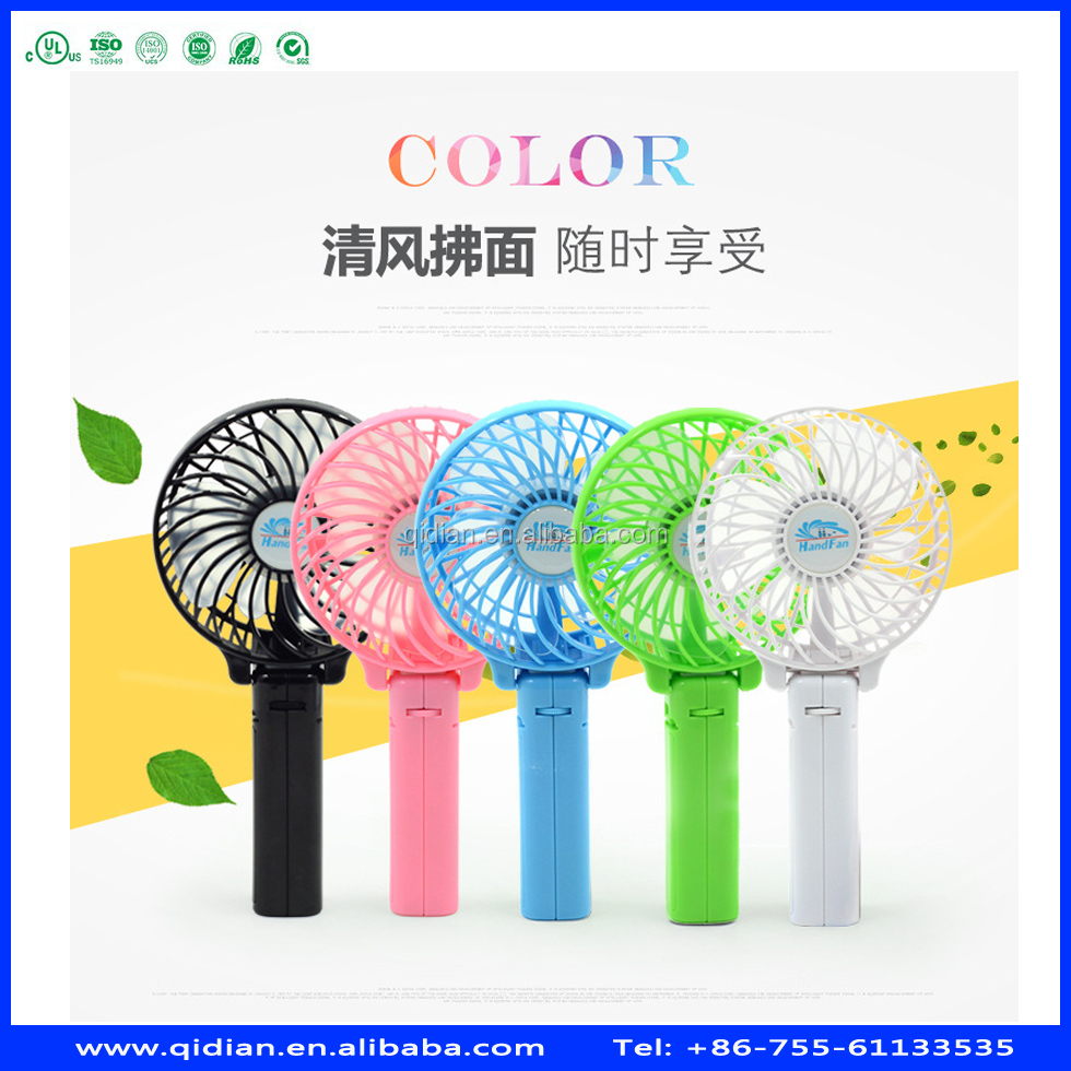 New strong wind and quiet foldable summer cooling fan usb mini table fan hand fan