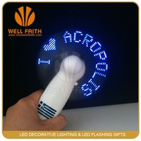 Mini Led message fan,Handheld led flashling fan,Best wedding gift