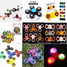 for Stress Relief toy,Focus, Adhd, Anxiety & Rave Plastic brass alloy metal 3D Fidget led light hand spinner