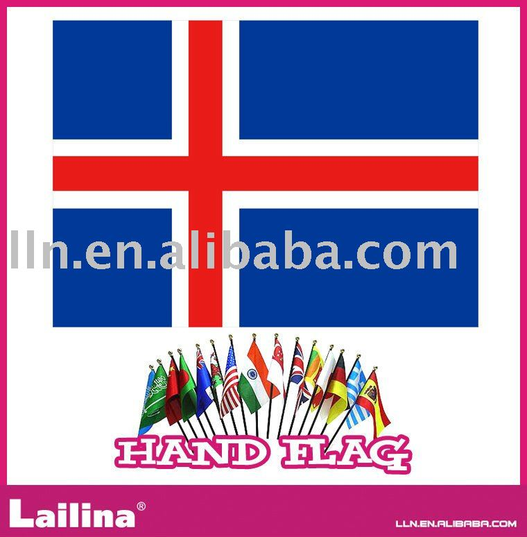 Hand Flag with Wooden or PP Stick