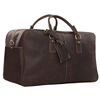 7156 Moshi Geniune Mens Vintage Leather Travel Duffel Bag Luggage Travel Bag 100% Leather Men Travel Bag