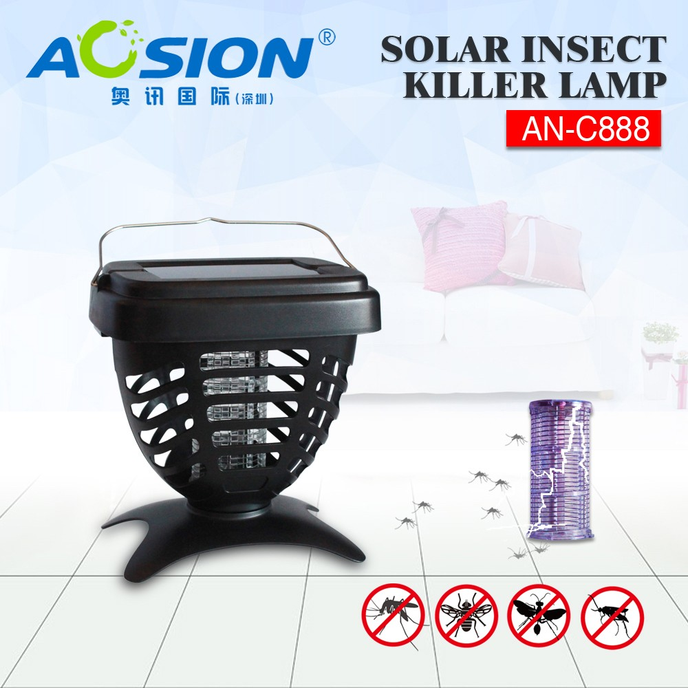 Aosion Outing items solar powered rechargeable mosquito insect killer lamp