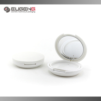 Factory wholesale compact powder plastic case with mirror