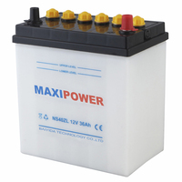 Direct Factory Manufacturing Top JIS Auto Batteries Sealed Lead Acid 12V36AH Dry charged Car Battery