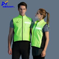High vis LED night 100% polyester running shirt