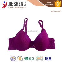 High Quality New Arrival Quick Dry Light Purple Color Attract Sexy Image Girl Bra with Polka Dot accept OEM
