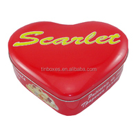 invitation wedding heart shape tin box with removable lid
