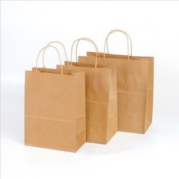 Custom Fashion Recyclable Printed Pattern Packing White/Black/Brown Kraft Paper Bags With Handles