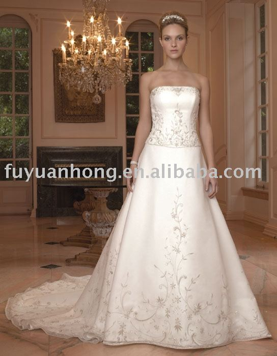 2008 new style bridal dress/popular wedding dress/FYH-WD1379
