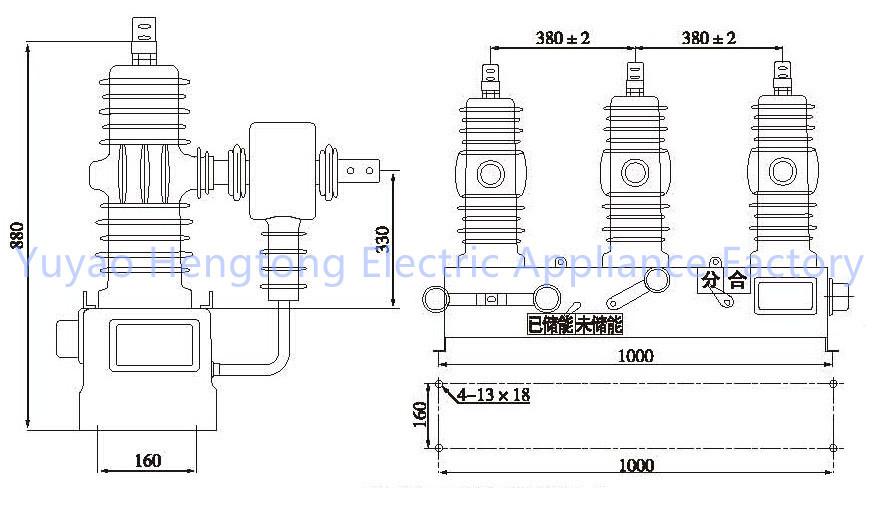 zw32-24 24kv outdoor high voltage vacuum circuit breaker with zero sequence ct