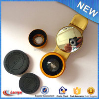 Mobile phones accessories smartphone 3 in 1 fisheye lens 3d camera lens cover for mobile phone