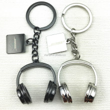 Metal crafts 3d headset shape key chain with custom design