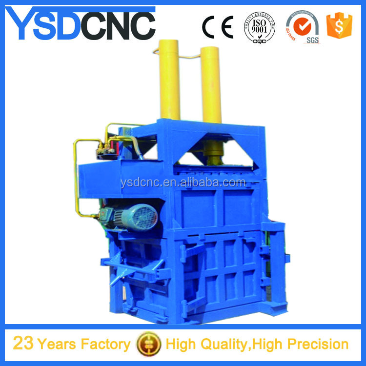 Hydraulic scrap metal recycling machine,baler machine for used clothing Y81-135 hydraulic baler