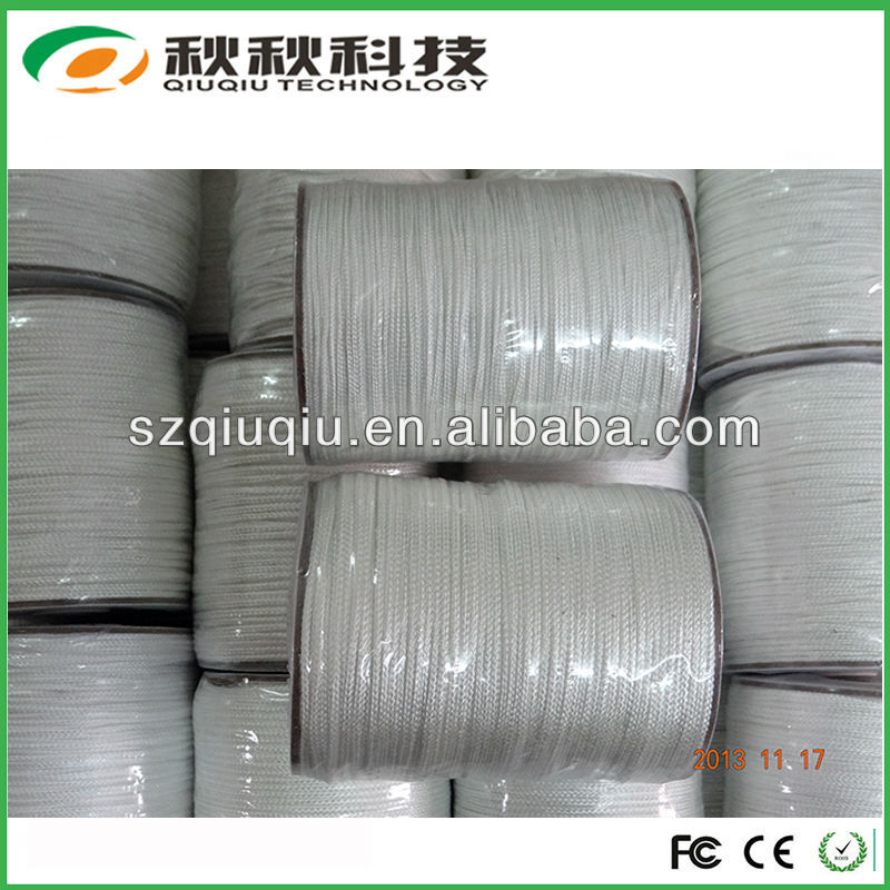 Qiuqiu wholesale e cigarette braided silica wick ekowool silica wick with best price and non-toxic,free smell