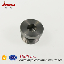 Zinc plated carbon steel hex head male metric thread VSTI M-OR blanking plug for ports