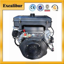 Customized 20hp V-twin 4-stroke Air-cooled Diesel Engine with Large Fuel Tank