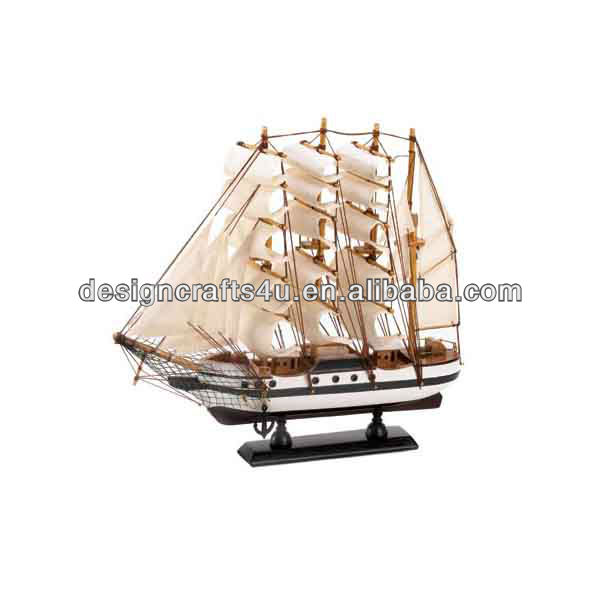 large-scale handmade ship model