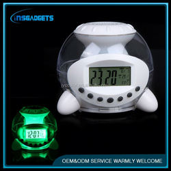 Digital 7 color changing temperature projection alarm clock ,H0T447 chime clock for sale