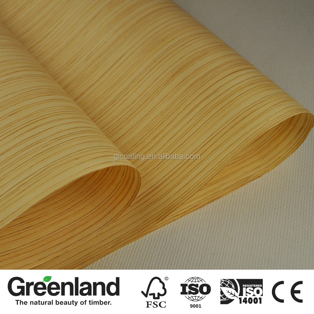 0.5MM 1MM thickness Zebrano Decorative Wood Veneer for plywood