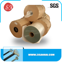 Cable shielding and cable wrapping use PET plastic film