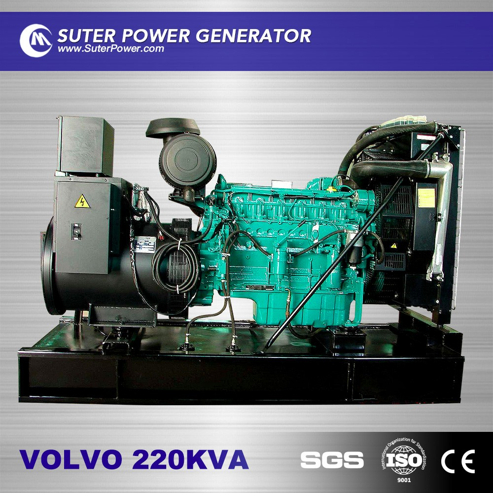 220kva open type diesel generator set volvo engine