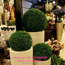 LXY071638 China manufacturer plastic artificial grass ball ornamental boxwood ball