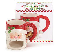 factory customize ceramic santa claus biscuit mug