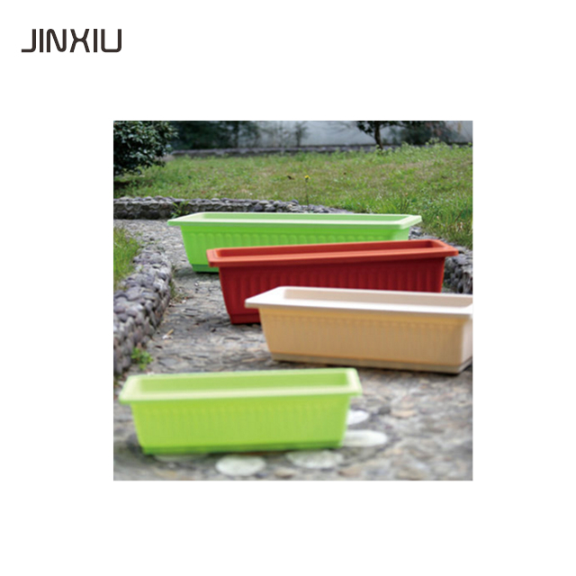 plastic rectangular outdoor planter pots big size decorative flower pots