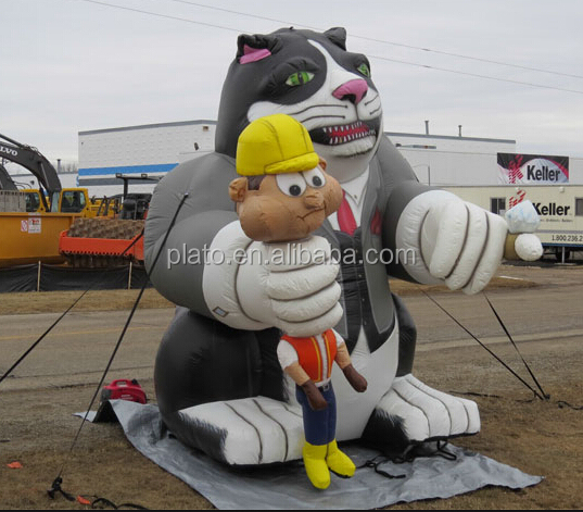Custom inflatable rat cartoon,inflatable union rat