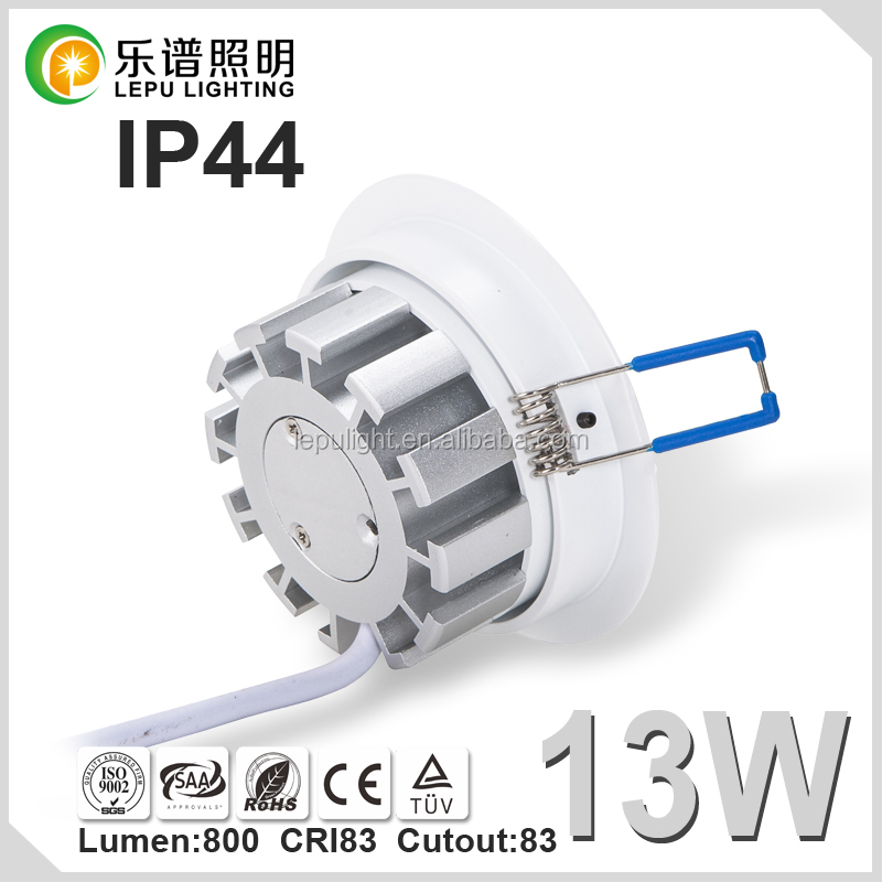 High quality 83mm cut led cob downlight with lens dimmable with IP44 classical model for Nordic market