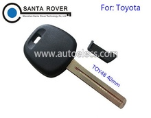 Wholesale Price Blank Key For Toyota Transponder Key Shell Case TOY48 blade With plastic plug