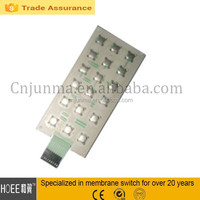 Polyester Tactile Metal Dome Push Button LED Membrane Touch Switch