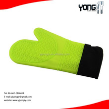 Silicone Oven Mitt and Pot Holder Strong Non-slip Grip with Extra Long Built-in Cotton Interior Lining kitchen silicone glove
