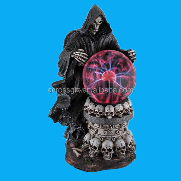 Destroyer of Worlds Grim Reaper Plasma Crystal Ball Accent Polyresin Lamp